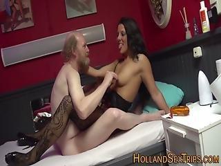 Real Hooker Gets Cumshot