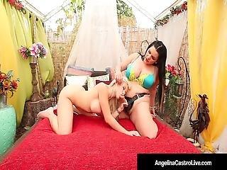 Cuban Bbw Angelina Castro Strapon Bangs Latina Cristi Ann
