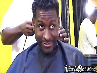 Throwback - Summer Get Gangbanged In The Barber Shop