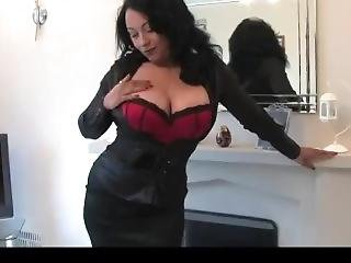 Milf Danica (donna Collins) In Satin. Oh So Busty.