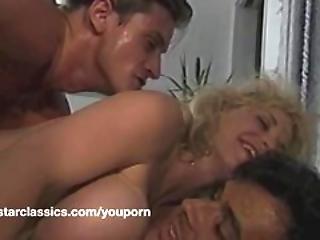 Busty Classic Pornstar Double Anal