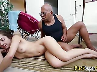 Babe Gets Black Rod Cum