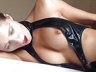Latex Stockings And Anal Creampie
