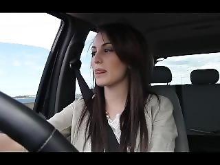 Gorgeous Australian Smoking In Car 1