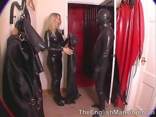 Latex Mistress And Slave In Latex Bondage
