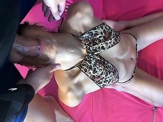 Super Messy Blowjob & Face Fuck From My Step Sister. Part1  Saliva Bunny