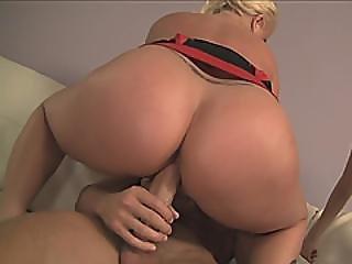 Blonde Tattooed Milf Tits Fucking Shy Pretty Teen In Threesome