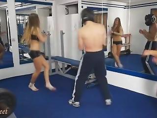 Girls Beat Man