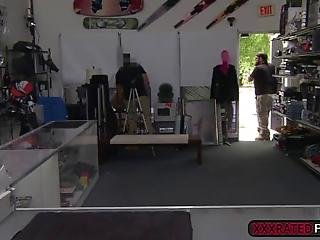 The Shop Is About To Close When A Sexy Waitress Came In To Pawn A Fake Purse For Some Quick Cash So He Came Up With Another Deal Back In His Office And She Finally Gave Up Her Tits And Pussy For Good That She Fuck Her So Good Stretching That Tight Pussy Out