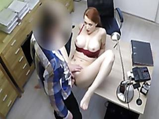 stort bryst, hardcore, hugetit, milf, kontor, realitiet, rødhåret