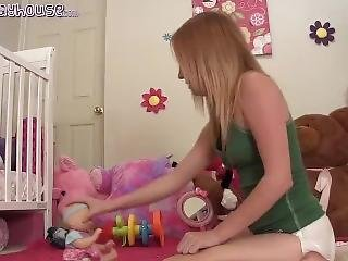 Alyssa Messes Her Diaper For You