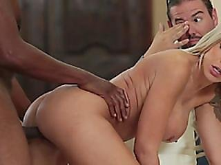 This Slutty Blonde Mom Will Not Stop Until She Drains That Huge Black Cock