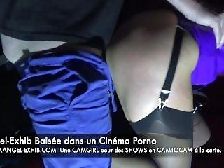Angel-exhib Visite Un Cinema Porno A Paris