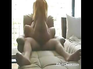 Hot Babe Riding Reverse Cowgirl
