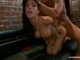 Gia Dimarco Handcuffed To Couch And Fucked