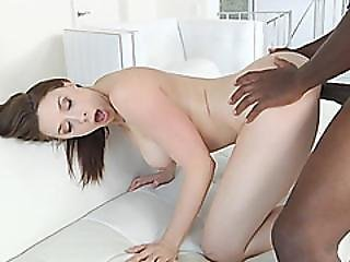 A Large Black Cock Drills All Holes Of A Big Tit White Brunette Slut