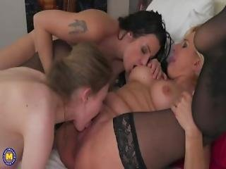 Two Mature Lesbian Ladies Sharing A Hot Teen