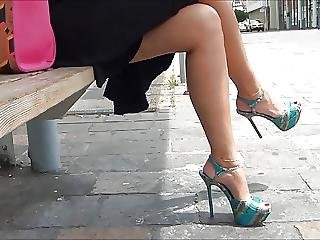 Sexy Feet And Heels In Street