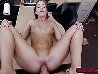 A Sexy Blonde Soon To Be Bride Gets Fucked In The Pawnshop