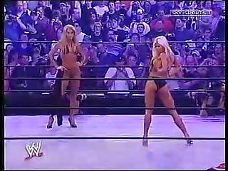 Wwe Divas Sable Vs Torrie Wilson Bikini And Thong Contest Judgement Day 2003