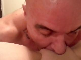 Muscle Guy Sucks Giant Steroid Clit And Eats Smooth Pussy.