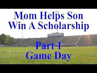 Mom Helps Son Win A Scholarship Part 1