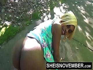 Risky Middle Of Street Blowjob And Big Ass Ebony Booty Out For Stranger Msnovember