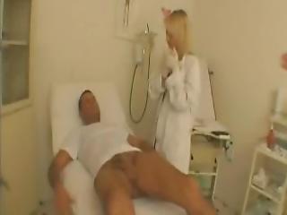 babe, blond, klinik, doktor, fetish, fræk, uniform
