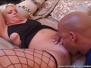 Slutty Blonde Licked By Black Dude