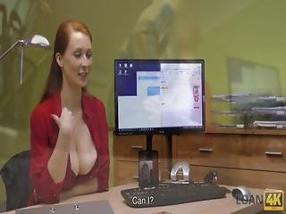 Loan4k Agent Screws Busty Redhead Because She Really