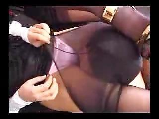 Asian Pantyhose Smother